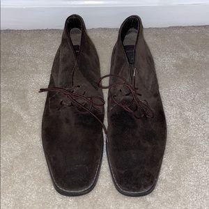 Calvin Klein brown suede chukka boots